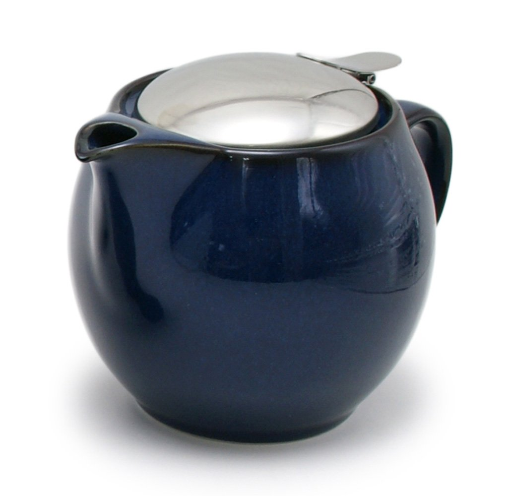 ZEROJAPAN 15oz Round Teapot with SLS Lid and Infuser (jeans blue)
