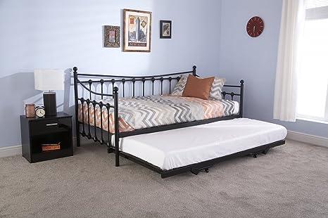 Sofá cama nido Memphis de 91,4 cm, de metal negro, gran ...