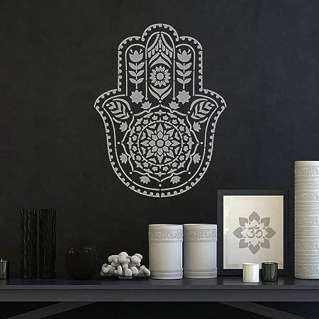 Mandala Stencil Hamsa Hand