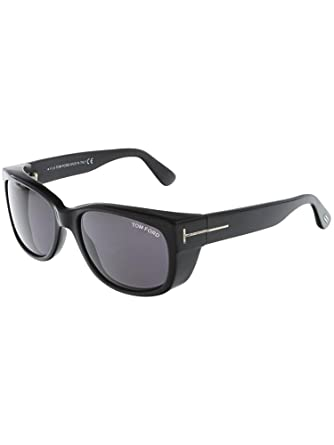 8166d3e88dc0 Image Unavailable. Image not available for. Color  Tom Ford TF 441 01A Carson  Black Plastic Rectangle Sunglasses Grey Lens