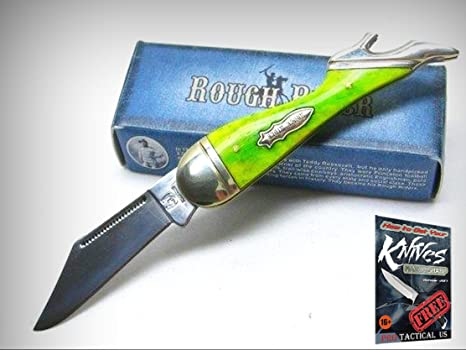 Amazon.com: ROUGH RIDER Cuchillo de bolsillo recto y ...