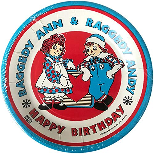 Raggedy Ann and Andy Vintage 1988 Small Paper Plates (8ct)]()