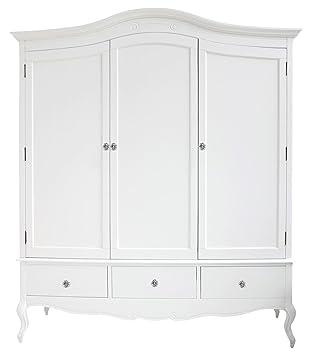 Juliette, groß-Schrank in Weiß oder Creme. Mit D-3-Tür-mit ...