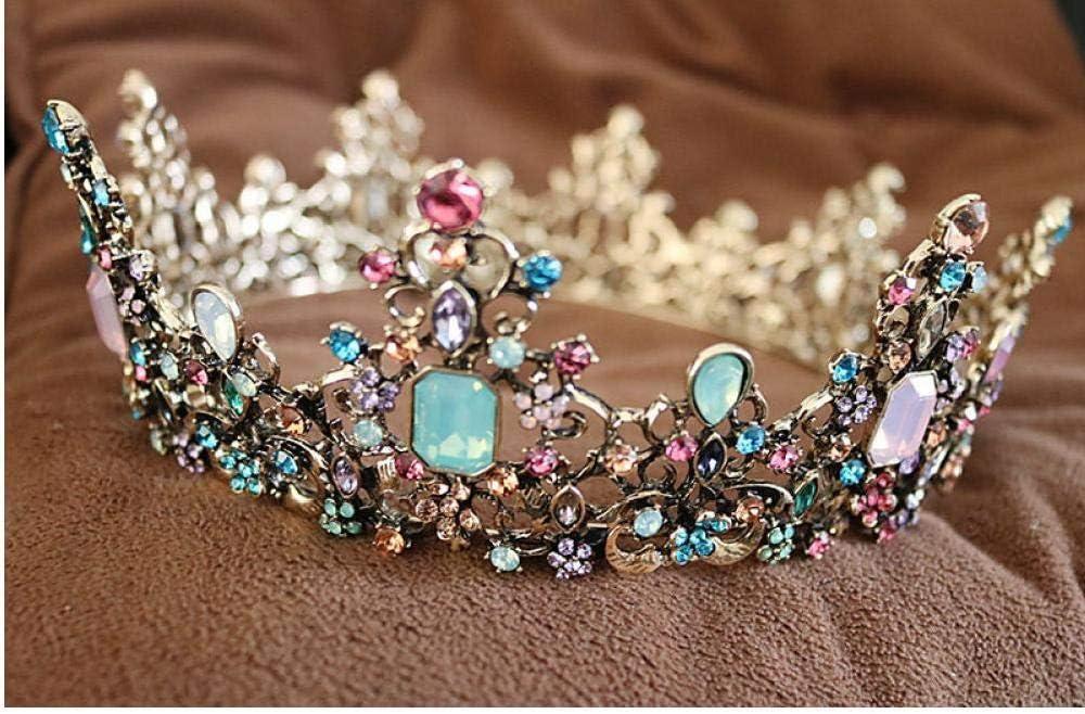 Zonfer Royal Queen Crown Bunte Jelly Kristall Strass Stein Hochzeit Tiara K/öniglicher K/önig Und K/önigin Kronen Prinzessin Tiara Stirnband-kost/üm