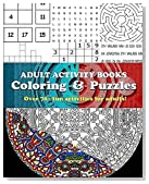 Adult Activity Books Coloring and Puzzles Over 70 Fun Activities for Adults: An Activity Book for Adults Featuring: Coloring, Sudoku, Word Search, Mazes, Cryptograms and more Logic Puzzles