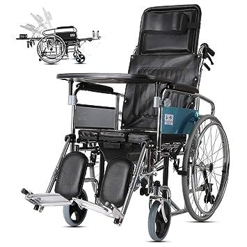 CZL-Wheelchairs Silla de Ruedas Silla de Viaje Llevando Al Anciano ...