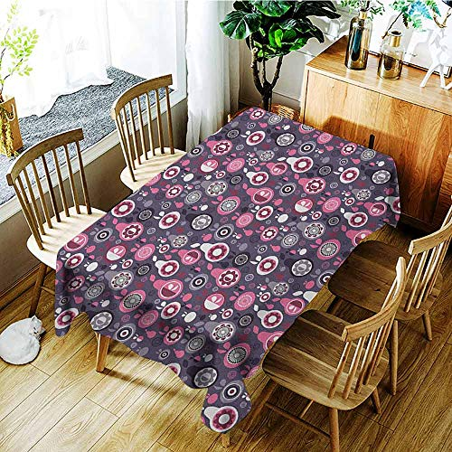 XXANS Rectangular Tablecloth,Fruit,Ornamental and Artistic Food Pattern Pears and Apples with Abstract Flower Motifs,Party Decorations Table Cover Cloth,W50x80L Multicolor ()