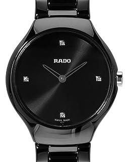 Rado True Thinline Black Dial Black Ceramic Ladies Watch R27742712