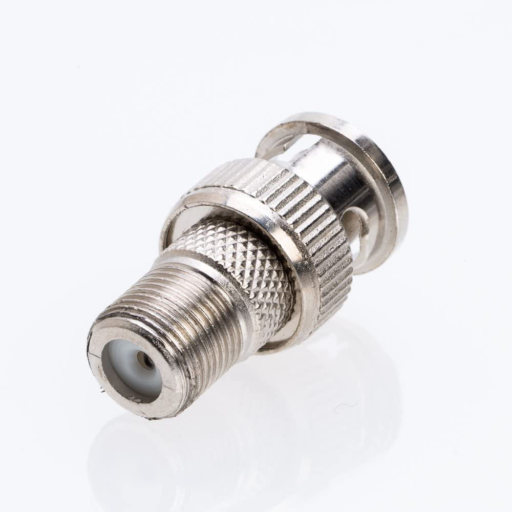 10//20//30//50//100 Pack BNC Male Plug to F Female Jack Adapter Coax Connector 100