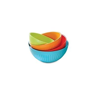 Nordic Ware 4-Piece Prep N Serve Mixing Bowl Set, 2/3.5/5/7-Quart