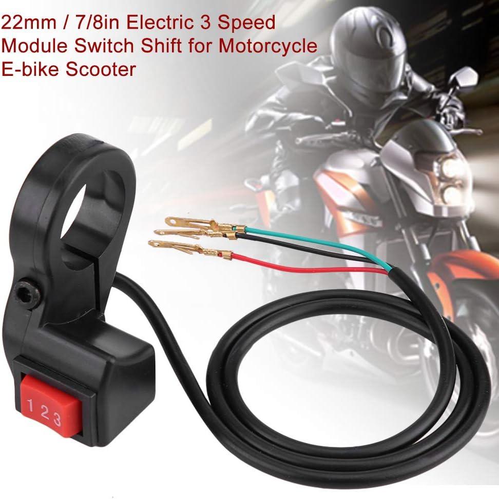 22mm Guidon /électrique 7//8in Guidon /électrique 3 vitesses Module Commutateur pour moto Scooter E-bike Commutateur de module 3 vitesses Moto ATV E-bike Scooter V/élo Guidon Commutateur Shift