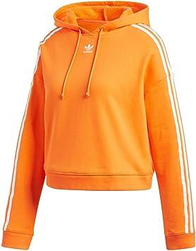 adidas Cropped Hoodie - Sudadera, Mujer, Naranja(NARBAH)