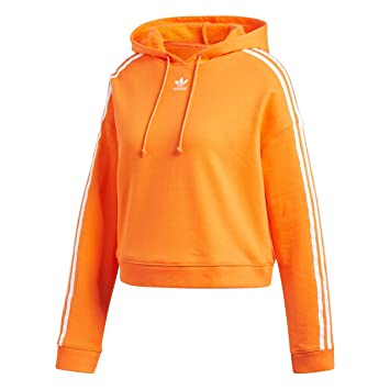 a49f32d330 adidas Cropped Hoodie - Sweat, Femme, Orange (narbah): Amazon.fr ...