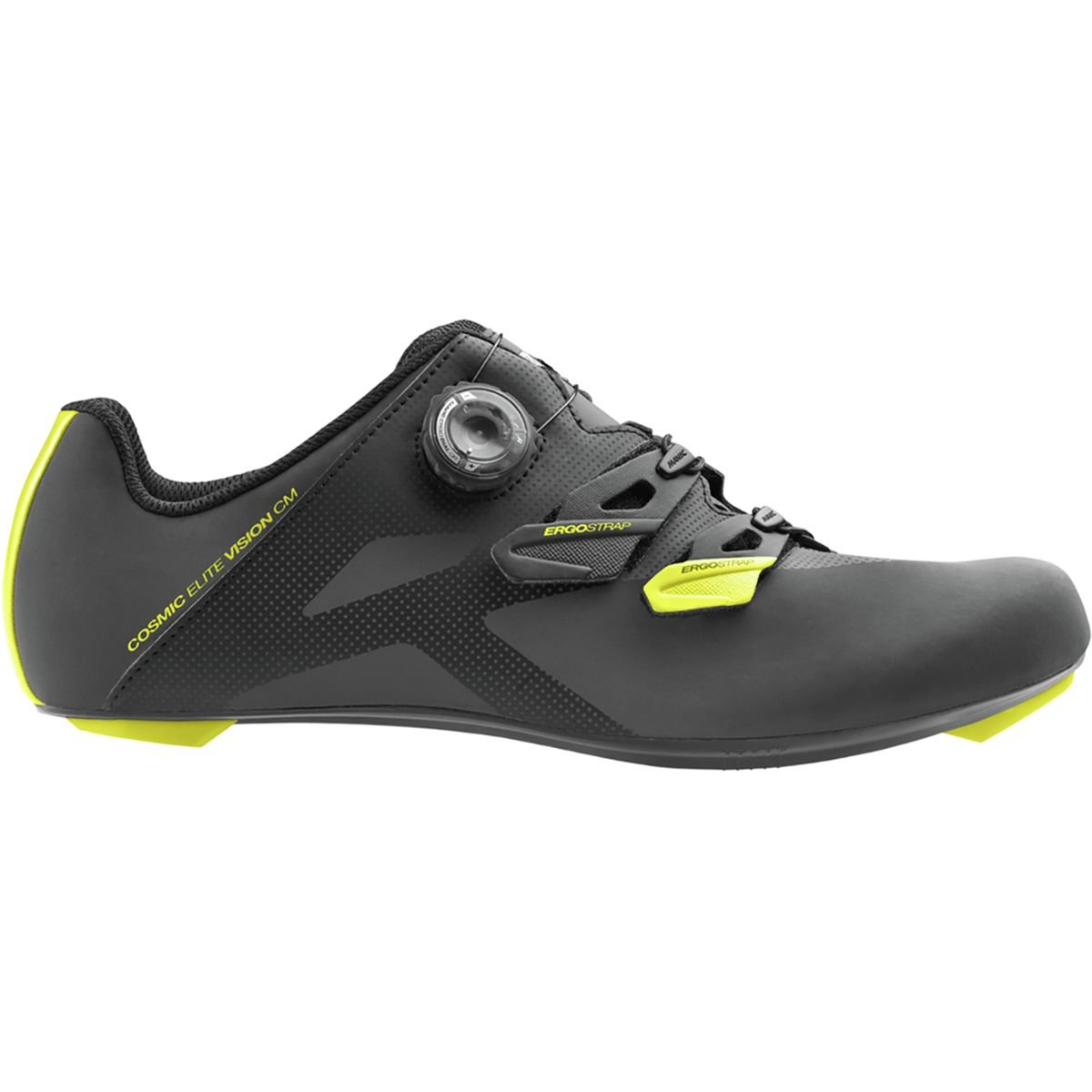 Mavic Cosmic EliteビジョンCM Shoe – Men 's Black/Yellow Mavic/ブラック、US 12.0 / UK 11.5   B072PP8BTS