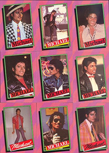 Michael Jackson Collectibles - MICHAEL JACKSON 1 1984 TOPPS COMPLETE BASE CARD & STICKER SET OF 33 & 33