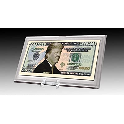 AAC / PCSCP Donald Trump 2020 Dollar Bill Desktop Collectible - Comes in Currency Stand - Beautiful Office Desk Top Accessory Gift - Toy, Prank, Gag Gift: Toys & Games