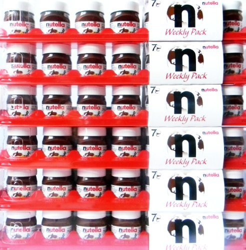 Nutella Weekly Pack, For Travellers, 6 Packages With Each 7 Mini Jars