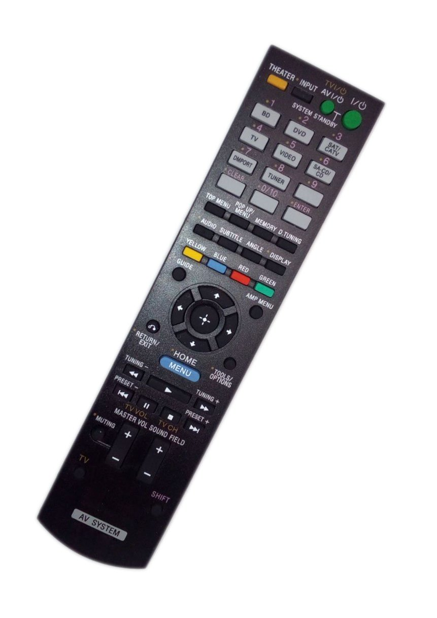 Replaced Remote Control Compatible for Sony STRKS470 RM-AAU071 1-487-611-11 STRDH710 HT-CT350 Audio / Video AV Receiver Home Theater System
