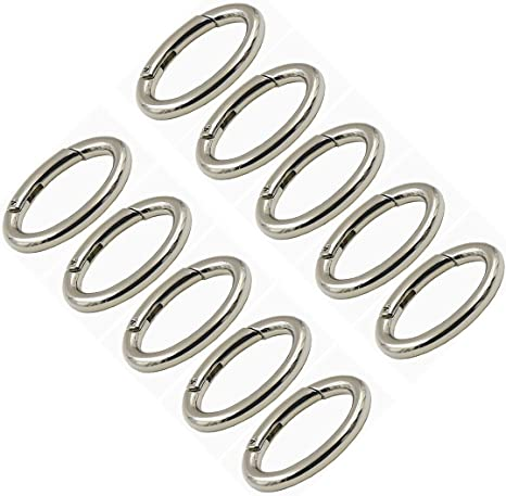 "24 Carabiners New! Aluminum Silver Color 2 1//8/"" Spring Belt Clip Key"