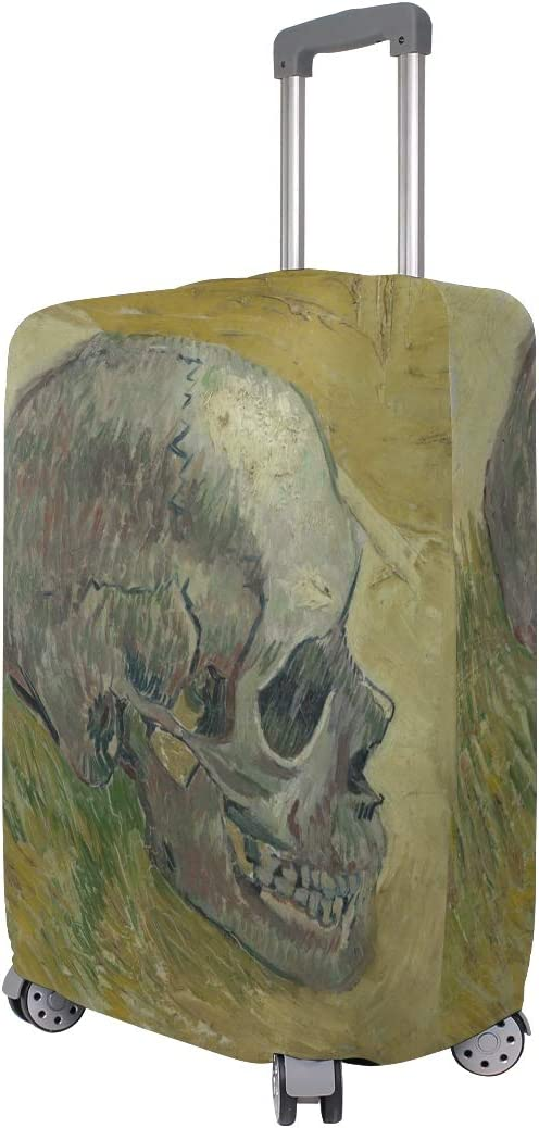 Blue Viper Van Gogh Skull Luggage Protective Cover Suitcase Protector Fits 22-24 Inch Luggage