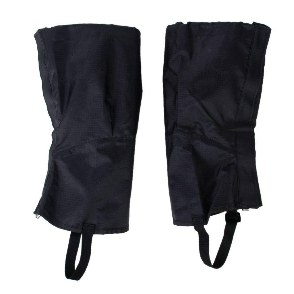 zcsmg 1par resistente al agua senderismo escalada nieve arena Leggings Polainas pierna escayolada (tamaño M, negro)
