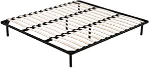 King Metal Bed Frame with Black Finish - Bedroom Furniture