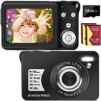 Digital Camera 30MP Camera 1080P Compact Camera 2.7 inch Pocket Camera,8X Digital Zoom Rechargeable Small Digital…