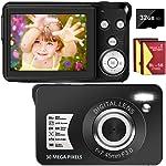 Digital Camera 30MP Camera 1080P Compact Camera 2.7 inch Pocket Camera,8X
