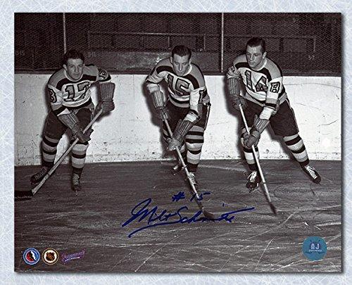 AJ Sports World Milt Schmidt Boston Bruins Autographed Kraut Line 8x10 Photo