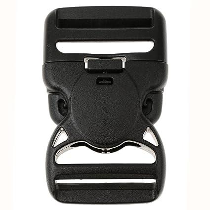 Plastique Boucle de Sécutité Clips de Presse Latérale pour Sangle 38mm 50mm  - Noir, 54fdc6eab51