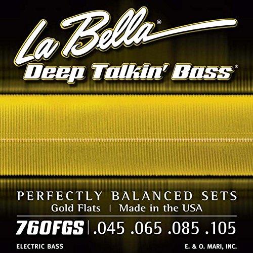 La Bella Deep Talkin' Bass Gold Flats Electric Bass Strings - 4-string