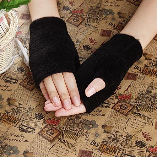 [Malltop Unisex Autumn Winter Thicken Warm Mittens Keyboard Outdoor Sports Fingerless Gloves (Black)] (Pretty Little Liars Halloween Costume)
