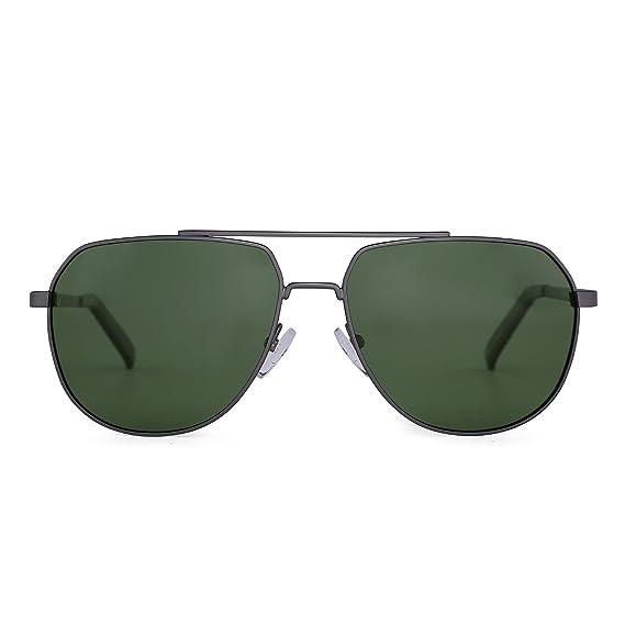 Jim Halo Gafas de Sol Aviador Polarizadas de Espejo Conducir Anteojos Metal Marco Hombre Mujer