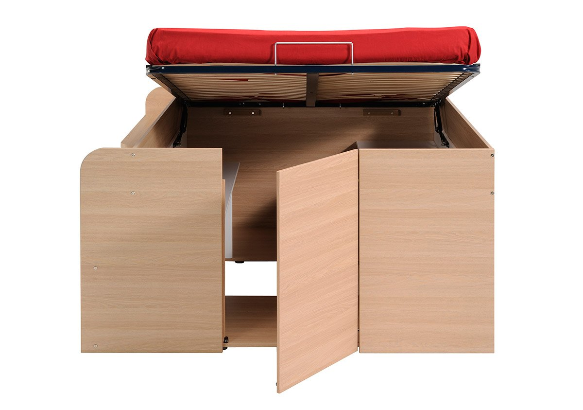 Parisot Space Up Double Bed With Under Bed Storage: Amazon.co.uk: Kitchen U0026  Home