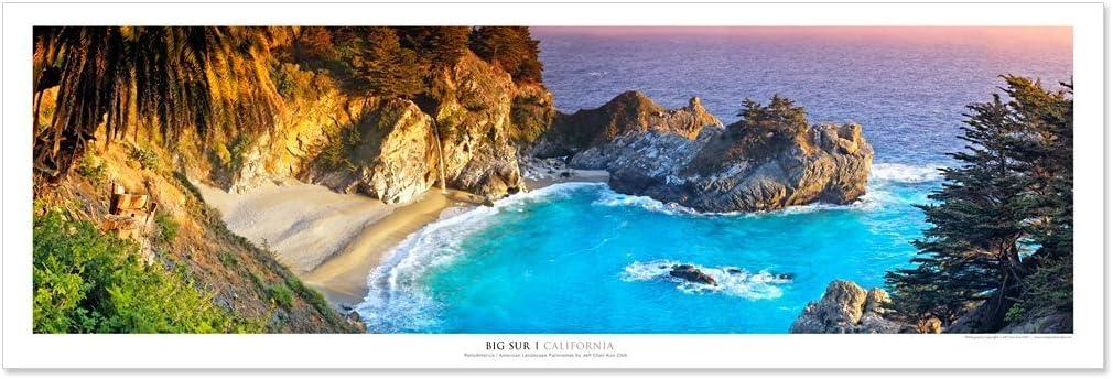 Vista Point Studio Gallery Award Winning Landscape Panoramic Art Print Poster: Big Sur - California