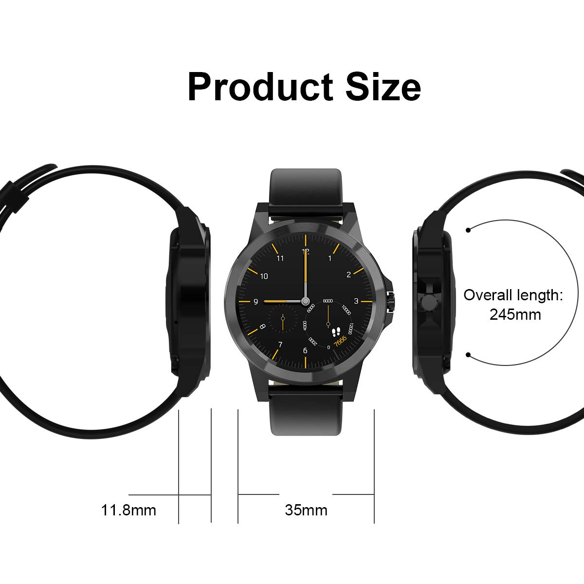 Amazon.com: Diggro Bluetooth Smart Watch DI02 DI03 MTK2052C ...