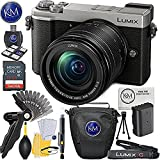 Panasonic Lumix DC-GX9 Mirrorless Micro Four Thirds Digital Camera with 12-60mm Lens (Silver) + 32GB Memory + K&M Basic Photo Accessory Bundle