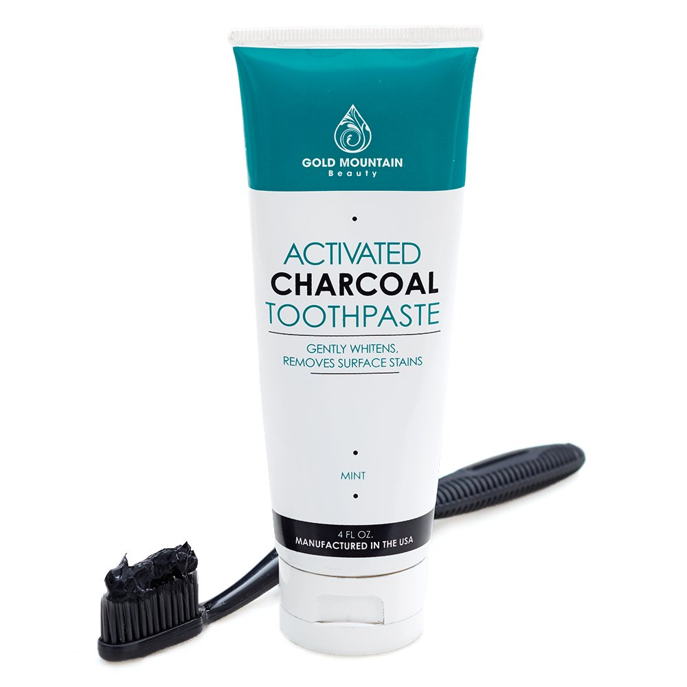 Activated Charcoal Teeth Whitening Toothpaste with Coconut. All Natural Herbal Toothpaste Eliminates Bad Breath and Gently Whitens Teeth. (1 Pack)