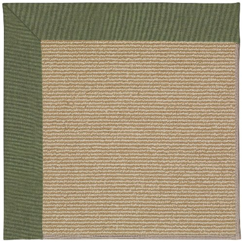 4' x 4' Octagonal Made-to-Order Oscar Isberian Rugs Area Rug Plant Green Color Machine Made USA