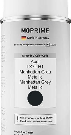 Mg Prime Autolack 2k Spraydosen Set Für Audi Lx7l H1 Manhattan Grau Metallic Manhattan Grey Metallic Basislack 2 Komponenten Klarlack Sprühdose Auto