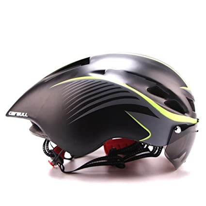 Triathlon Mtb Road Bike Helmet Bicycle Integrally-Molded Aerodynamic Sport Cycling With Goggles Casco Ciclismo