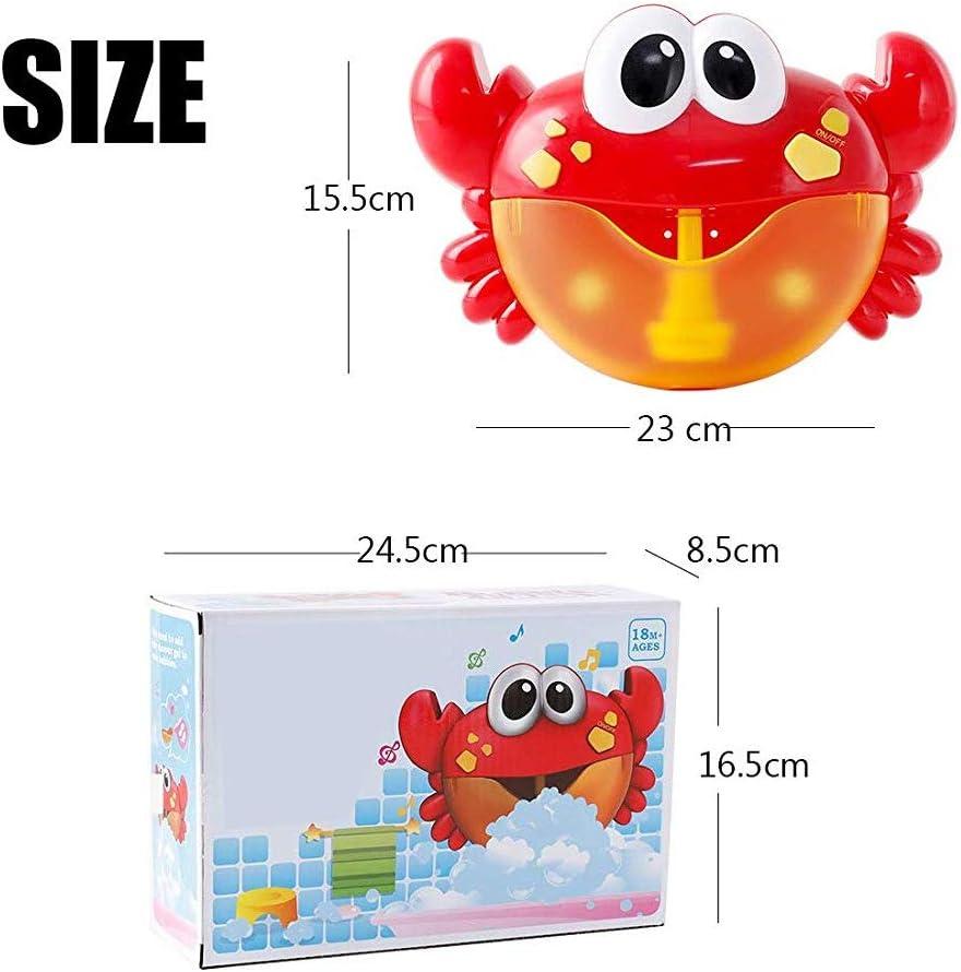 NaiCasy Baby Bath Crabe Jouet Bubble Bubble Maker Bubble Blower Bubble Machine avec 12 Comptine Baignoire Jouets Bubble pour b/éb/é Enfants Enfants 1 Set