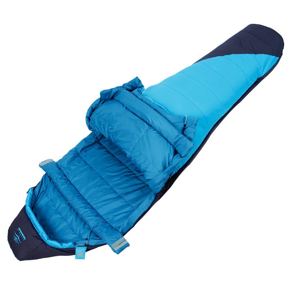 シングルスリーピングバッグ、暖かい、3シーズン、軽量、屋外キャンプ B07FDYLSSY