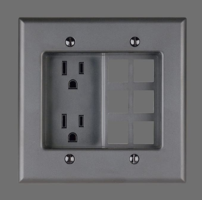 Leviton 690-W 15 Amp, 2-Gang Recessed Device with Duplex Receptacle ...