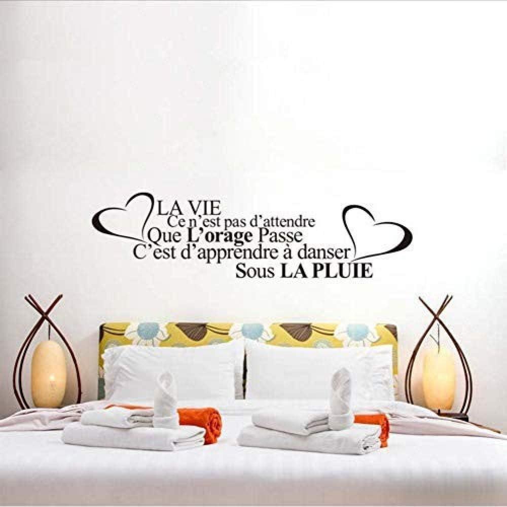 Citation De La Vie Fran/çaise Sculpt/é Stickers Muraux De D/écoration De La Maison 40X148Cm