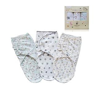 Baby Swaddle Wrap Pucktuch Baumwolle Wickeltuch Pucksack Schlafsack 0-6 Monat