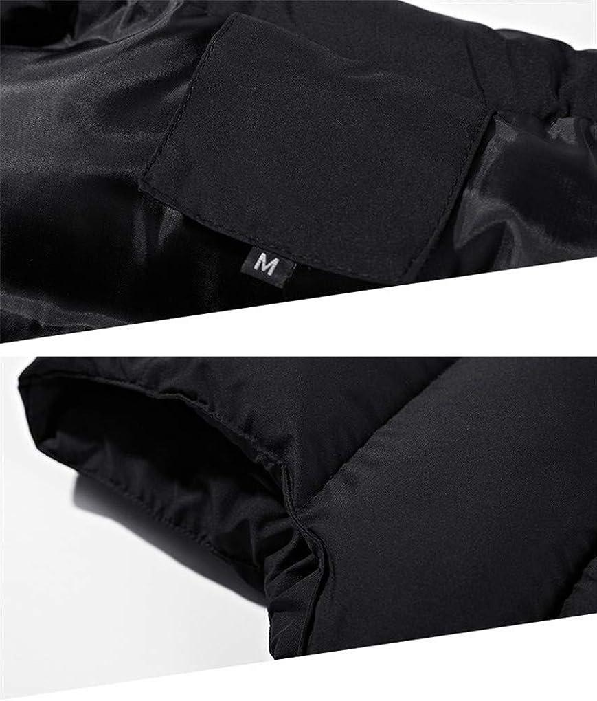 8XL Hiver Gilet Varsity Casual Coton pour Les Hommes Hiver Classique Parka Chaud éPais Coton Gilet Homme Veste MatelasséE Manches Black