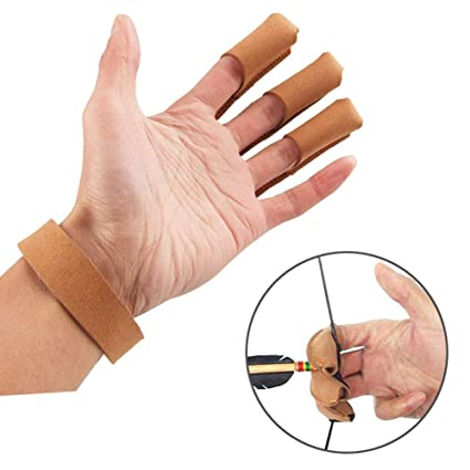 Archery Protective Finger Protective Finger Gloves Guard Target Shooting HD