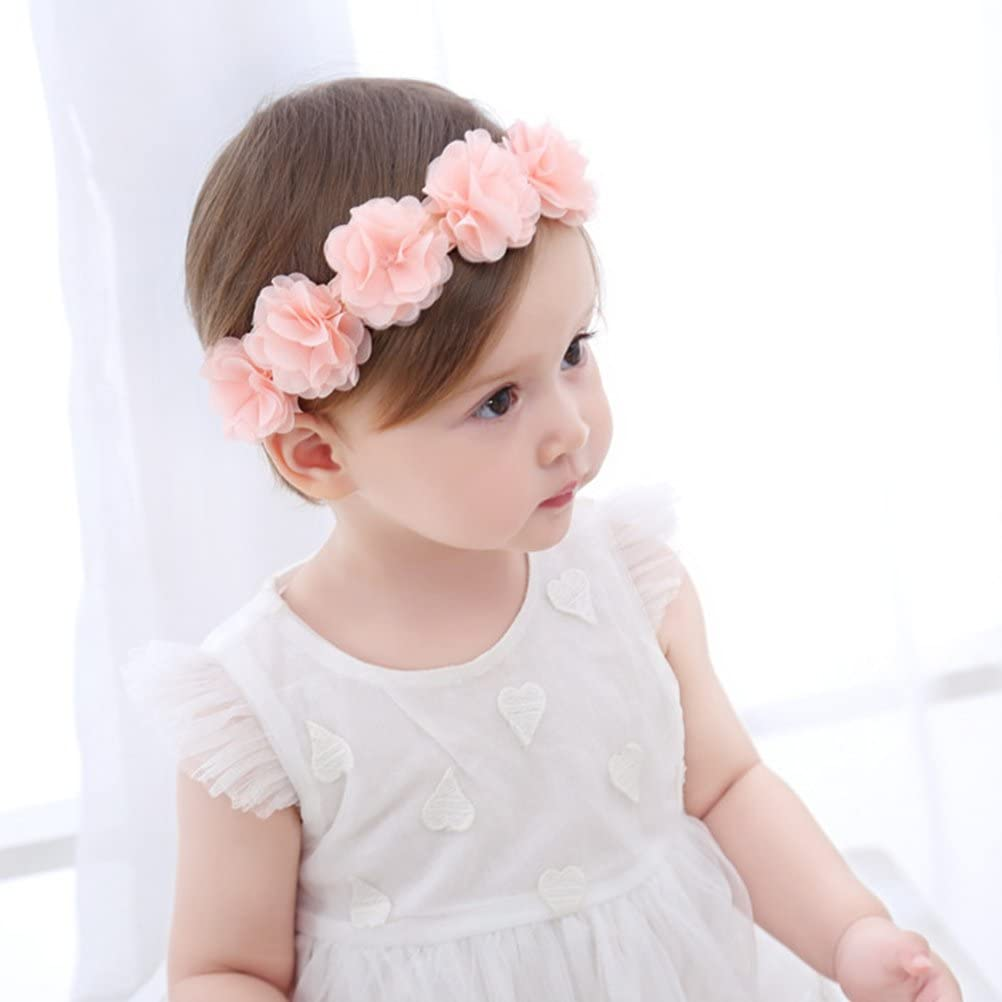 Fmeida Baby Girls Headband Flower Birthday Crown Hair Band-Gift for Baby