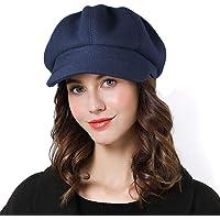 Superora Boinas Mujer Francesa Vintage Sombreros de Mujer Invierno Clásico Gorro Caliente